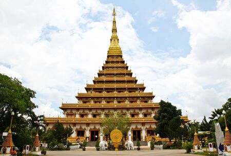 Temple in Thailand is named Phra-Mahathat-Kaen-Nakhon, Khon Kaen province, Thailand. Stock Photo