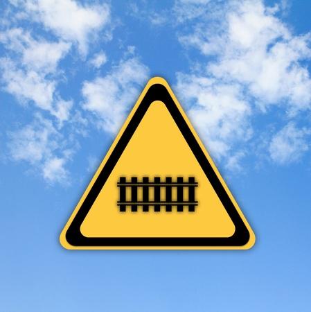 Traffic railway sign on beautiful sky background. Stock Photo - 13793167