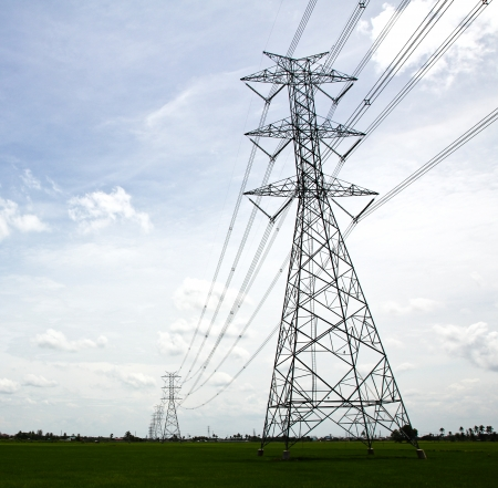 Electric high voltage power post. Stock Photo - 14386626
