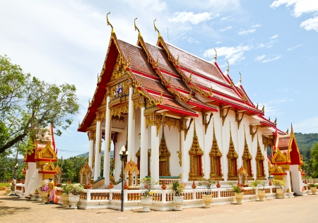 Wat Chalong or Chaitharam Temple in Phuket, Thailand. Stock Photo