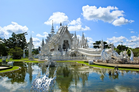 Thai temple called Wat Rong Khun at Chiang Rai, Thailand. photo