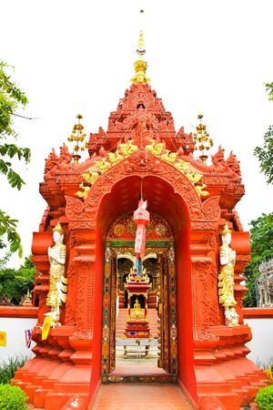 Gate of temple at Wat Ming Muang,Chiangrai province of Thailand. photo