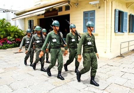 BANGKOK, THA�LANDE - SEP 07: Parade des gardes des rois dans le Grand Palais, le 07 Septembre 2012, � Bangkok, en Tha�lande.