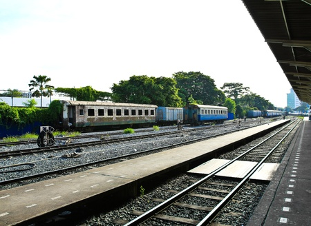An image of the Thonburi train station in Thailand. photo