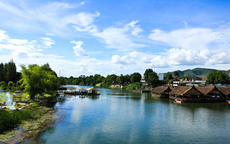 Beautiful river kwai in Kanchanaburi province, Thailand Stock Photo