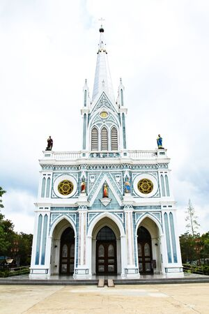 White iglesia en Samut Songkhram, Tailandia. photo