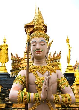 Goddess,Thai Temple,Samut Songkhram In Thailand.