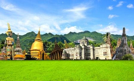 Thailand travel background concept 版權商用圖片
