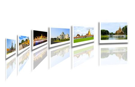 Thailand travel background concept photo