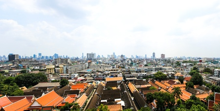 General view of Bangkok from Golden mount, Thailand Stock Photo - 16029262