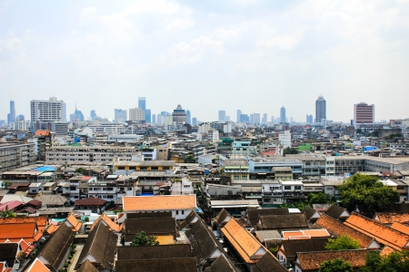 General view of Bangkok from Golden mount, Thailand Stock Photo - 16029228