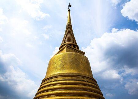Wat Saket temple , the golden mount, Bangkok, Thailand Stock Photo - 16029221
