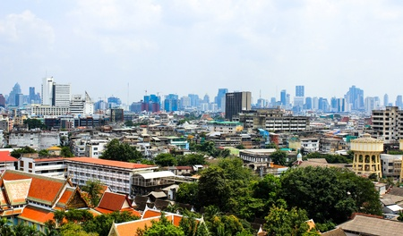 General view of Bangkok from Golden mount, Thailand Stock Photo - 16029239
