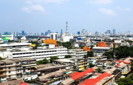 General view of Bangkok from Golden mount, Thailand Stock Photo - 16029233