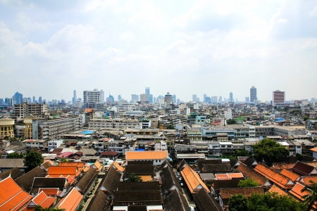 General view of Bangkok from Golden mount, Thailand Stock Photo - 16029241