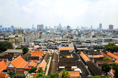 General view of Bangkok from Golden mount, Thailand Stock Photo - 16029242