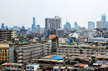 General view of Bangkok from Golden mount, Thailand Stock Photo - 16029225