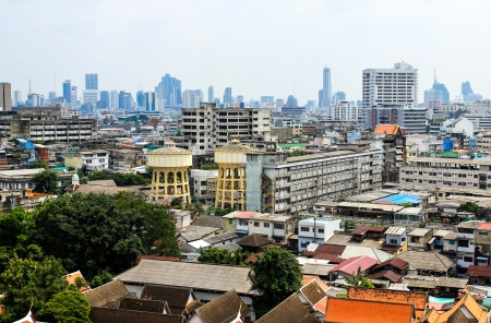 General view of Bangkok from Golden mount, Thailand Stock Photo - 16029247