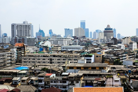 General view of Bangkok from Golden mount, Thailand Stock Photo - 16029237