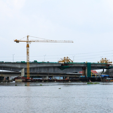 New highway bridge under construction Stock Photo - 16029215