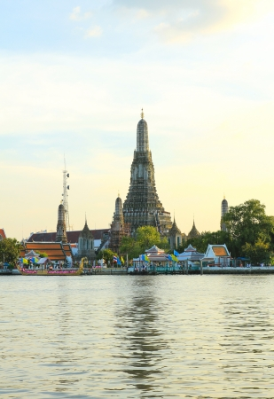 Wat Arun, the Temple of Dawn, stands on the Chao Phraya river in Bangkok Thailand Stock Photo - 16029264