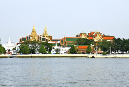 The Grand Palace as seen from across the Chao Phraya River, Thailand Stock Photo - 16205445