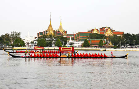 Thailand's Royal Barge Procession at Chao Phraya River Stock Photo - 16205448