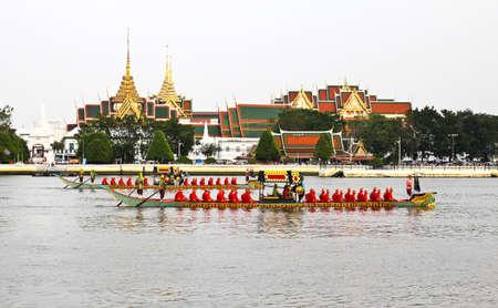 Thailand's Royal Barge Procession at Chao Phraya River Stock Photo - 16205450