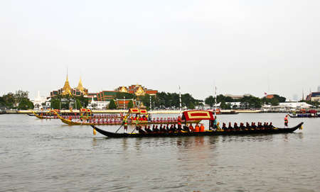 Thailand's Royal Barge Procession at Chao Phraya River Stock Photo - 16205437