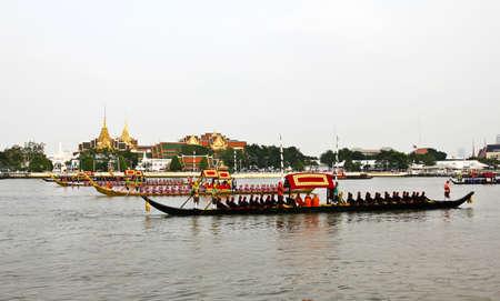 Thailand's Royal Barge Procession at Chao Phraya River Stock Photo - 16205437