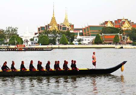 Thailand's Royal Barge Procession at Chao Phraya River Stock Photo - 16205440