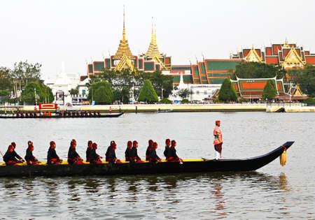 Thailand's Royal Barge Procession at Chao Phraya River Stock Photo - 16205440