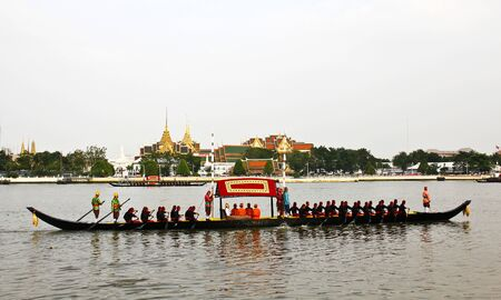 Thailand's Royal Barge Procession at Chao Phraya River Stock Photo - 16205439