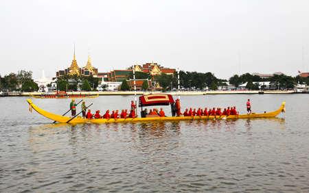 Thailand's Royal Barge Procession at Chao Phraya River Stock Photo - 16205447