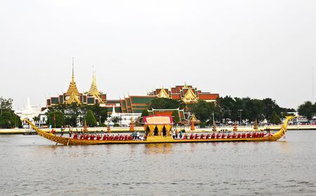 Thailand's Royal Barge Procession at Chao Phraya River Stock Photo - 16205442