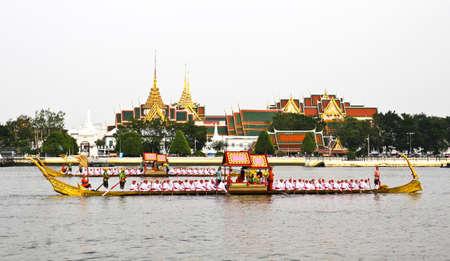 Thailand's Royal Barge Procession at Chao Phraya River Stock Photo - 16205446