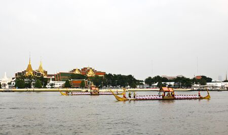 Thailand's Royal Barge Procession at Chao Phraya River Stock Photo - 16205438