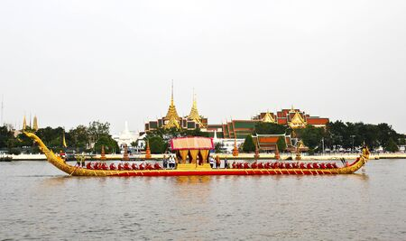 Thailand's Royal Barge Procession at Chao Phraya River Stock Photo - 16205444