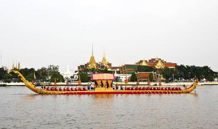 Thailand's Royal Barge Procession at Chao Phraya River Stock Photo - 16205444