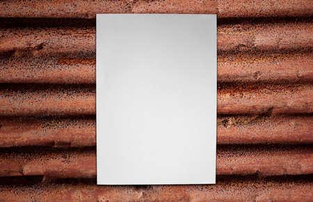 Paper on corrugated iron Stock Photo - 16373893