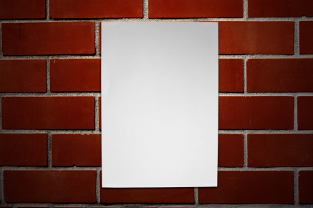 Paper on brickwall Stock Photo - 16373887