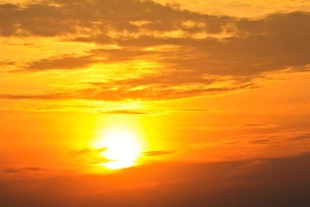 fondo azul: The sky. Sunset Stock Photo