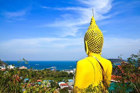Big buddha in Sichang Island ,Chonburi,Thailand photo