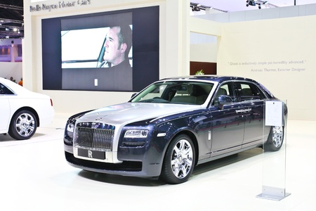 BANGKOK - MARCH 28: Rolls-Royce car on display at The 34th Bangkok International Motor Show on March 28, 2013 in Bangkok, Thailand.