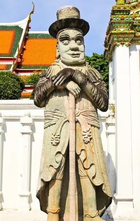 Statue chinoise au temple de Wat Pho, Bangkok, Tha�lande