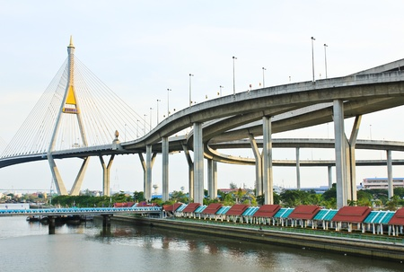Bhumibol Bridge , Bangkok, Thailand photo