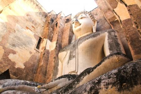 Big Buddha ? Wat Si Chum au parc historique de Sukhothai, Tha?lande Banque d'images