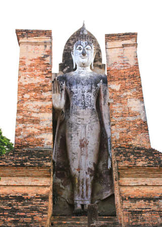 Ancient buddha statue. Sukhothai historical park, the old town of Thailand in 800 year ago photo