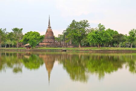 Sukhothai historical park, the old town of Thailand in 800 year ago photo