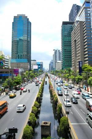 BANGKOK - JUNE 17: Daily traffic jam in the afternoon on June 17, 2013 in Bangkok, Thailand. Traffic jams remains constant problem in Bangkok despite rapid development of public transportation system.